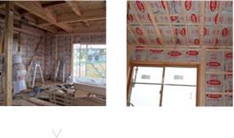 断熱工事:断熱材の施工